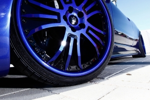 Big light alloy wheels for your Maserati can be painted in the color of your choice