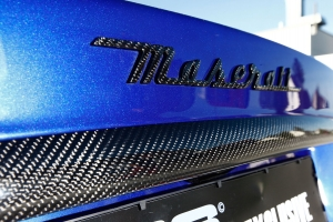 Brand emblems and other parts on your Maserati 4200 can be finished with carbon fiber