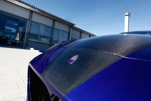Motorhaube mit Sichtcarbon veredelt beim Maserati 4200