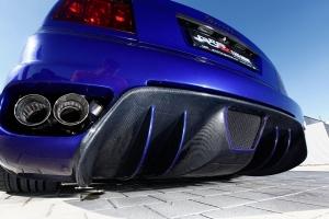 Der Maserati 4200 erhält durch die besondere Heckschürze und den Doppelrohren des Klappenauspuffs einen sportlichen Auftritt
