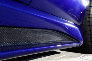 Side skirts made of carbon or fiberglass for the maserati 4200