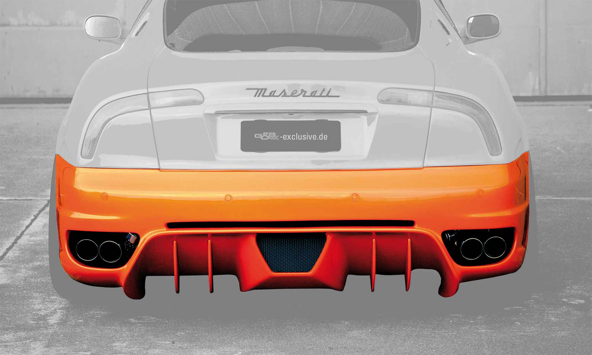Rear bumper for Maserati 4200 EVO