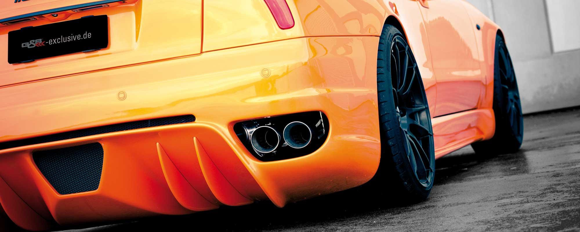Der Maserati 4200 mit neuer Heckschürze mit integriertem Diffusor