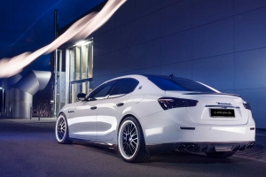 KW coilover kit with exclusive alloy wheels for the Maserati Ghibli