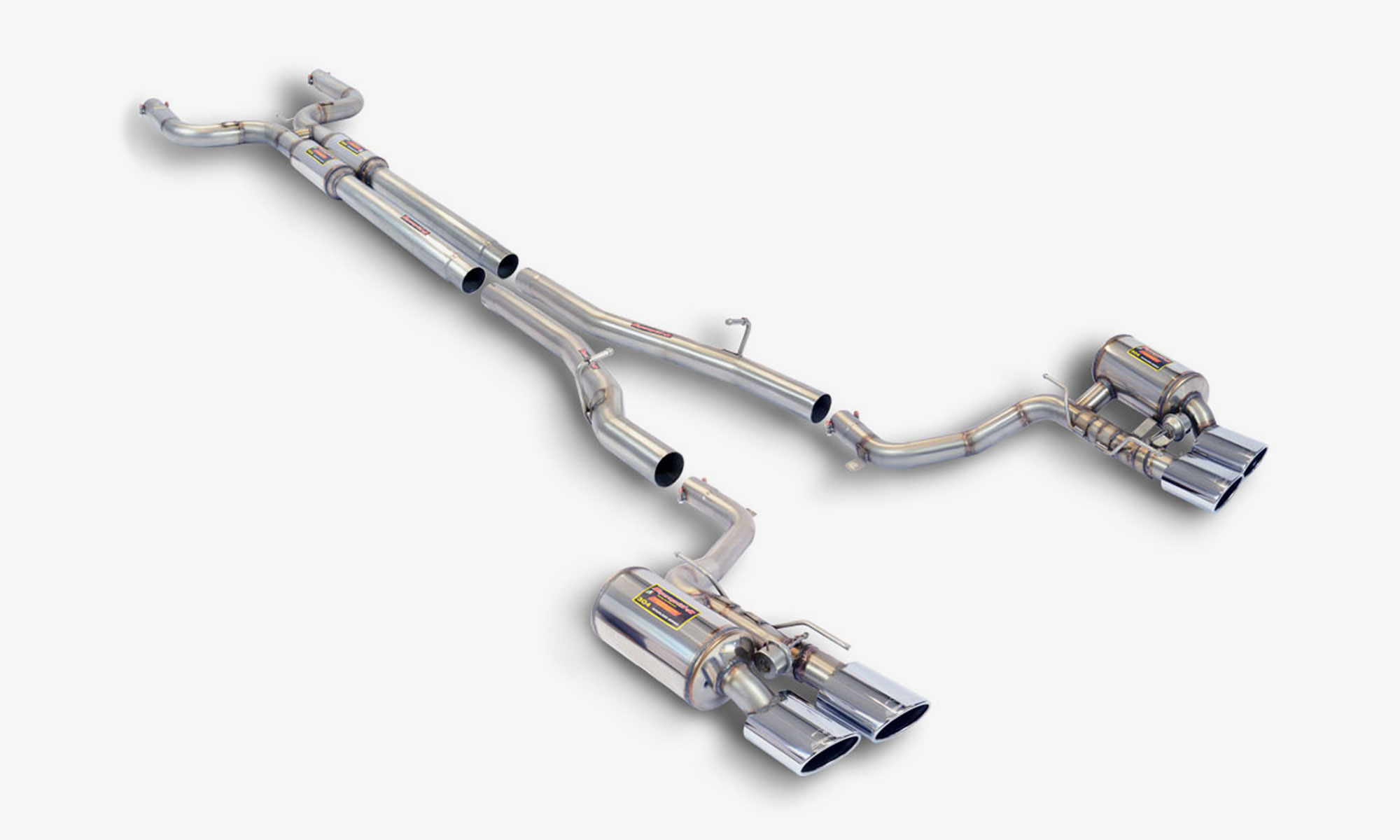 High performance sports exhaust system for Maserati Ghibli EVO