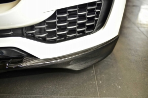 Additional front Spoiler Lip  in carbon highlight the front of the Maserati Levante clearly