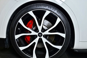 The large aluminum wheels can be painted in trolley or desired color