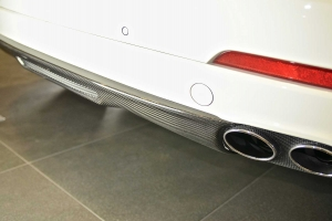 Many exclusive attachments are available for the Maserati Levante, such as the rear diffuser, which makes the rear look sportier