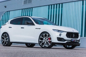 Side air inlets made of carbon fiber for the Maserati Levante